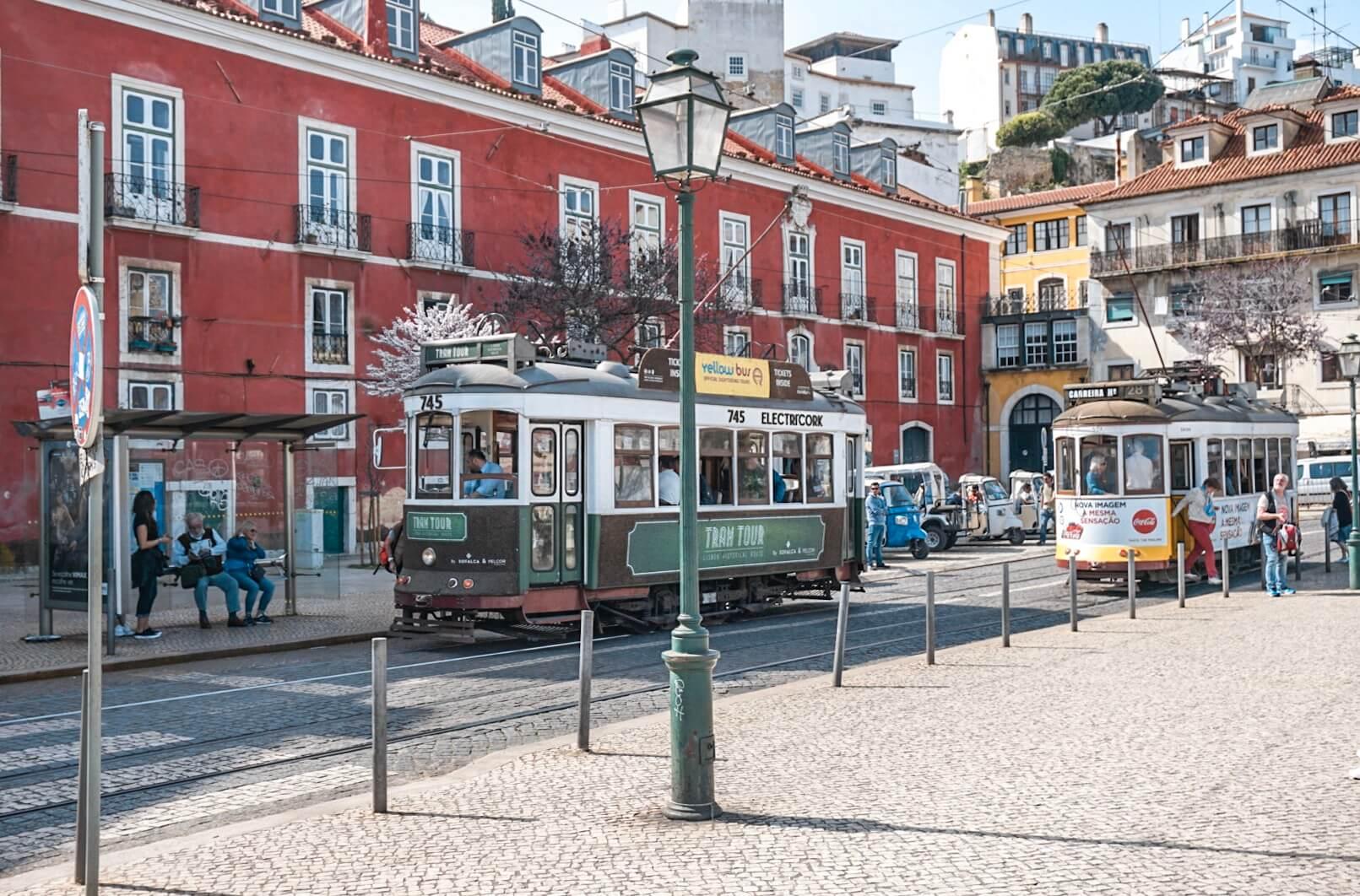 les tramways à lisbonne