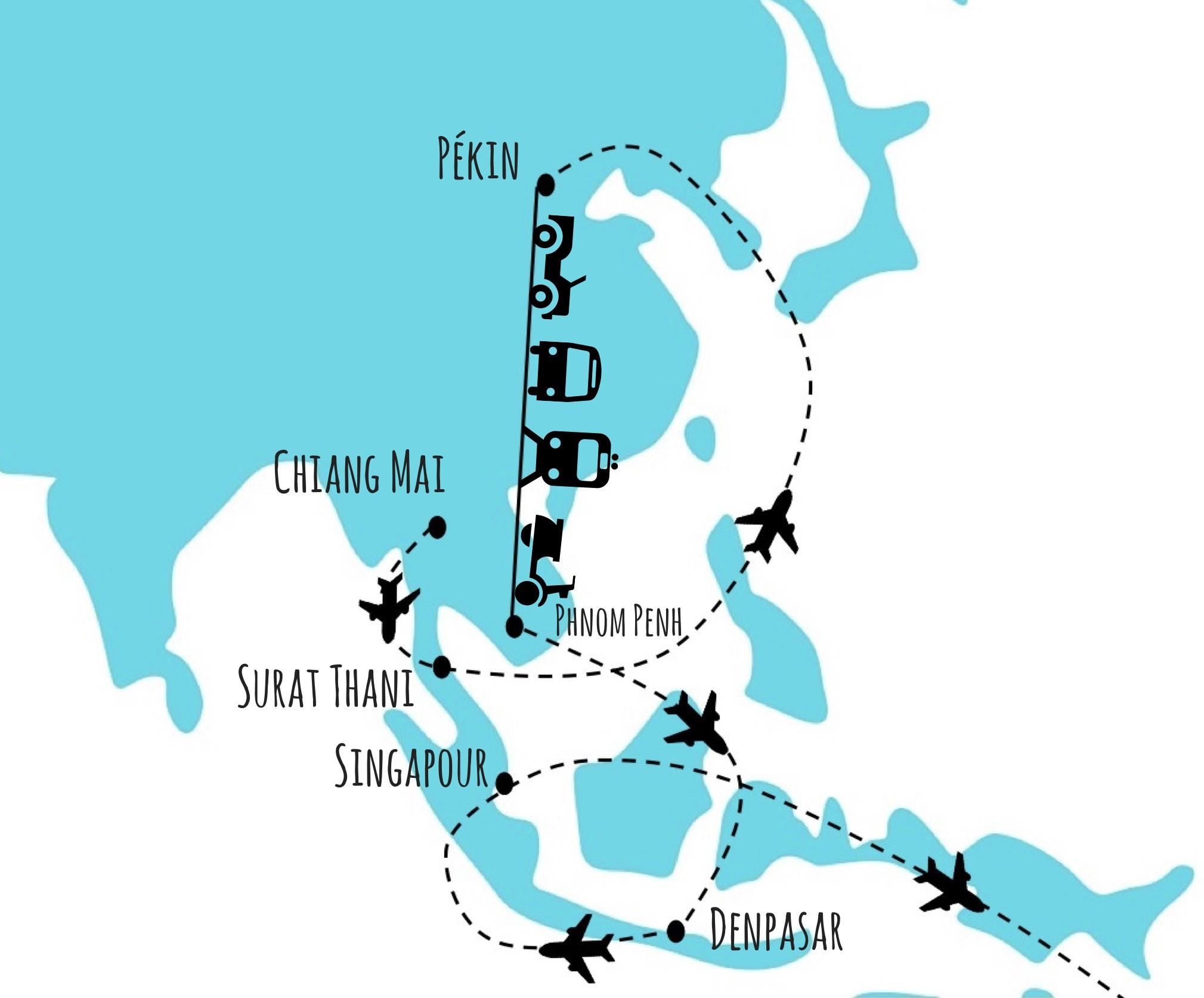 quel itinéraire avion tour du monde
