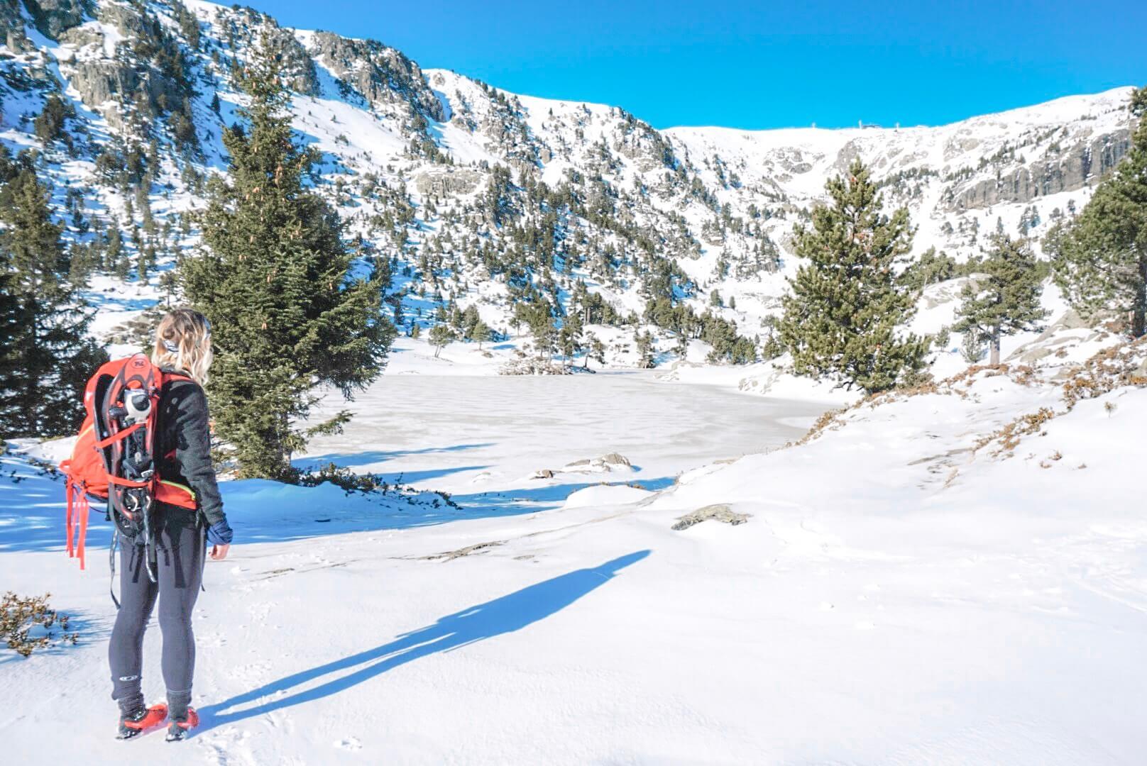 randonnée raquette hiver chamrousse lac Robert