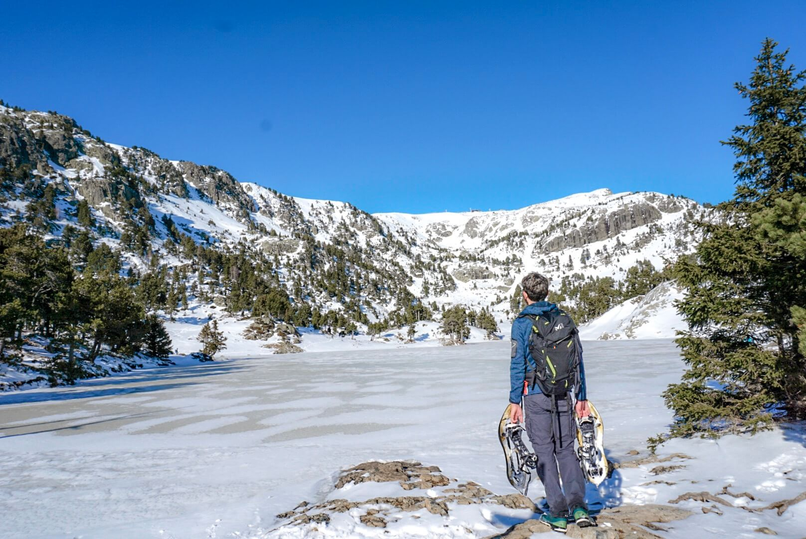 Randonnée lac Robert hiver chamrousse
