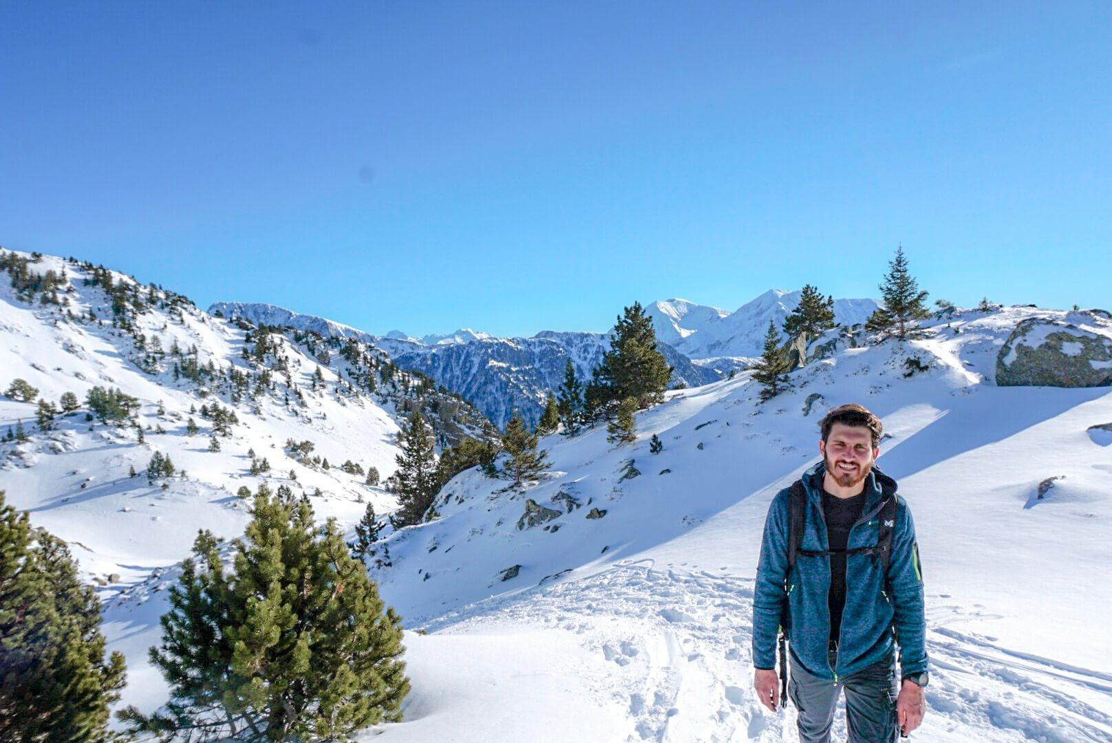 randonnée raquette hiver itinéraire col de l'infernet