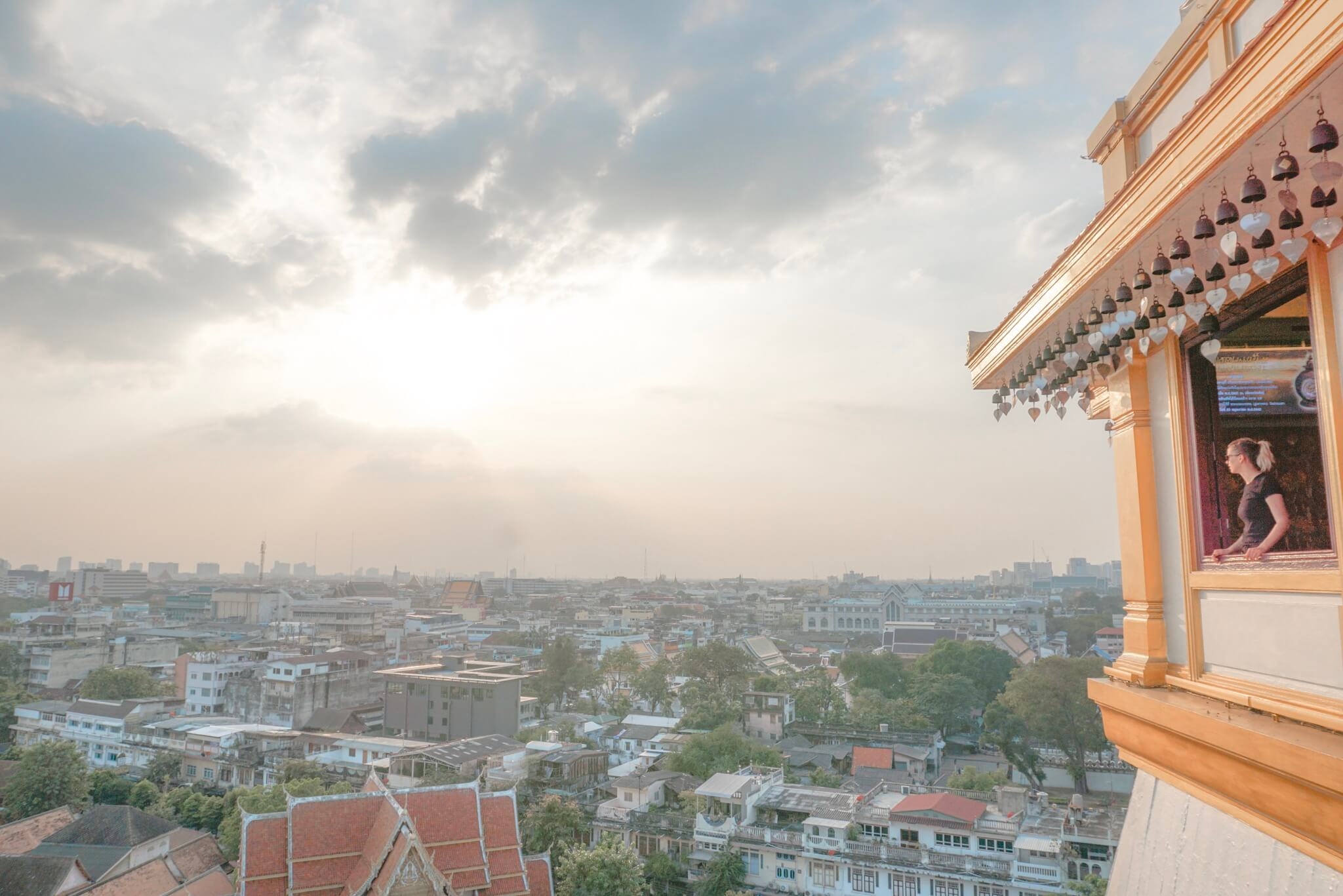 Le temple de la Golden Mounatin Bangkok Yhailande