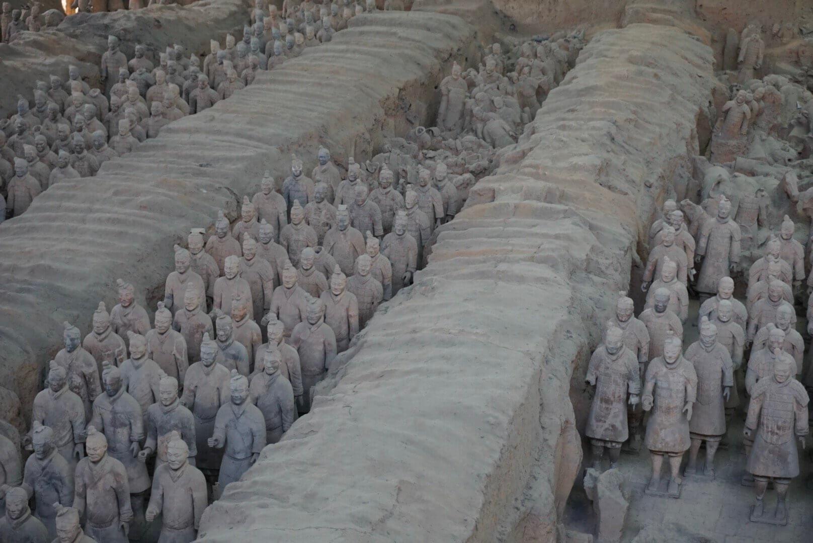 Armée de soldats en terre cuite de Xian chine