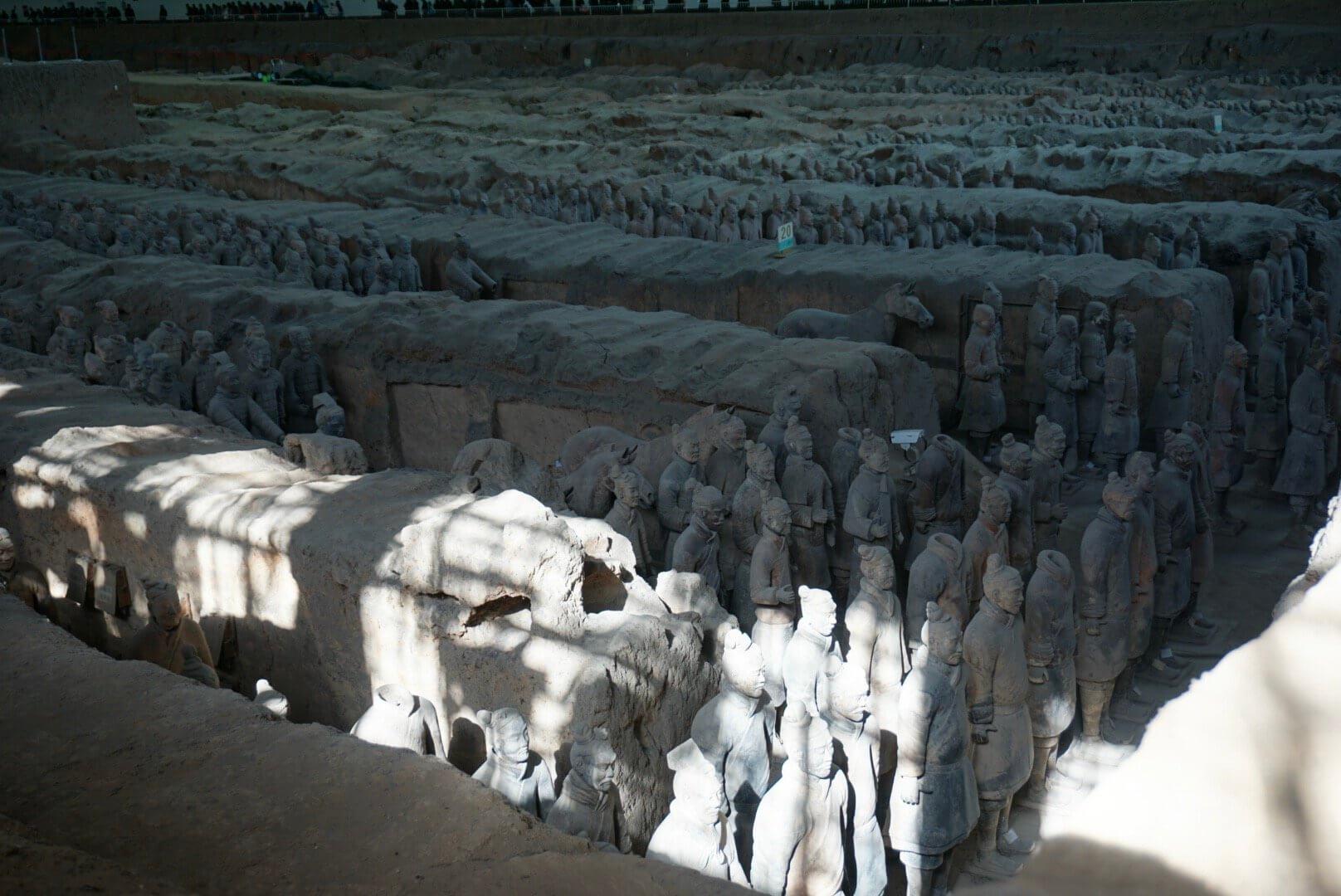 Soldats en terre cuite armée de Qin Xian chine