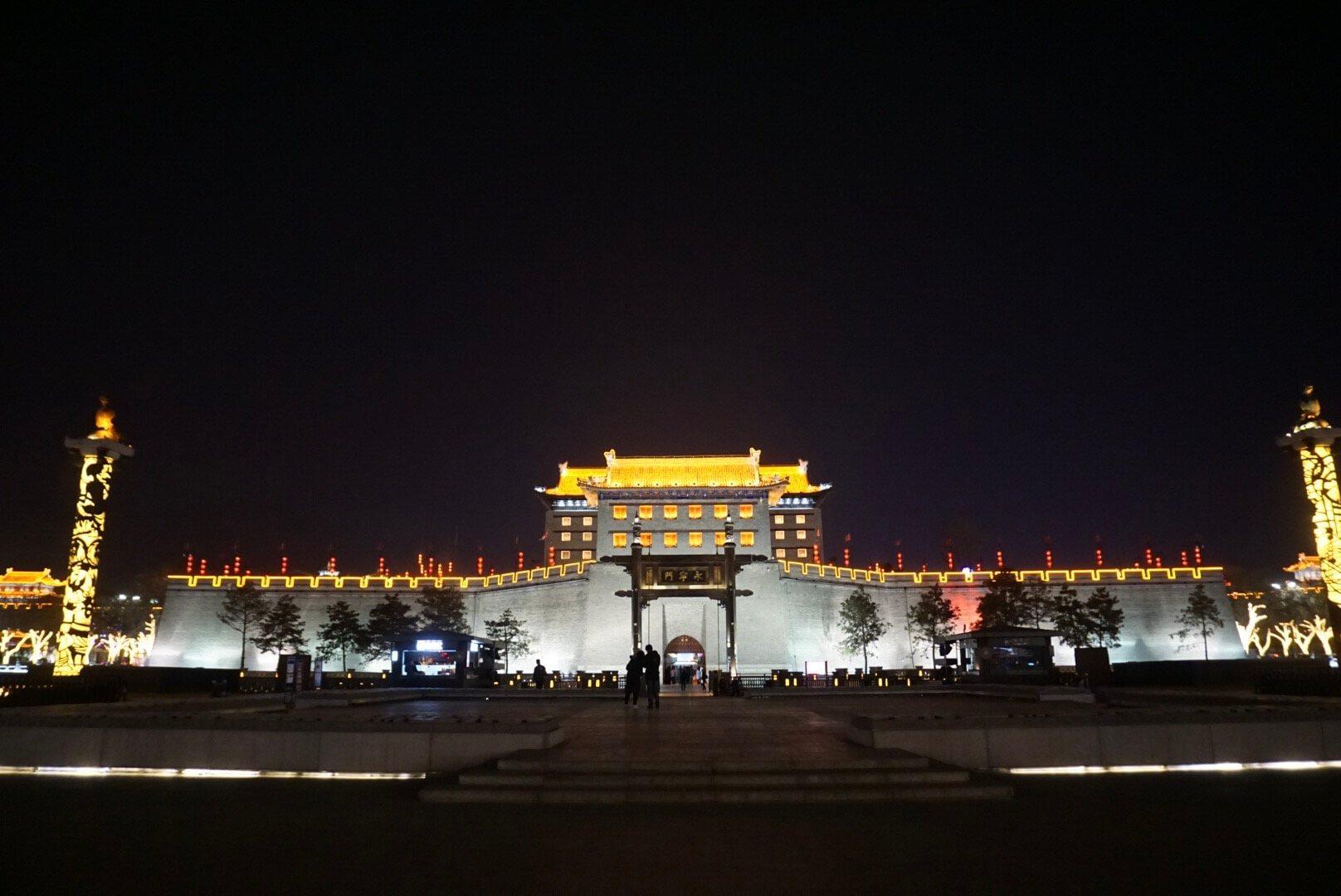 Porte de Xian illuminées Chine Voyage