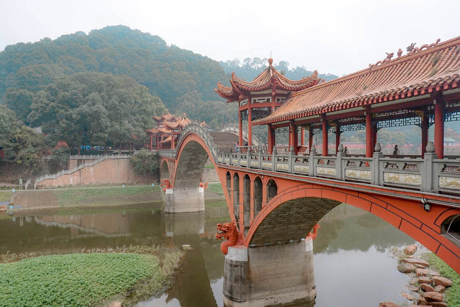 pont parc du bouddha de leschan chine blog voyage