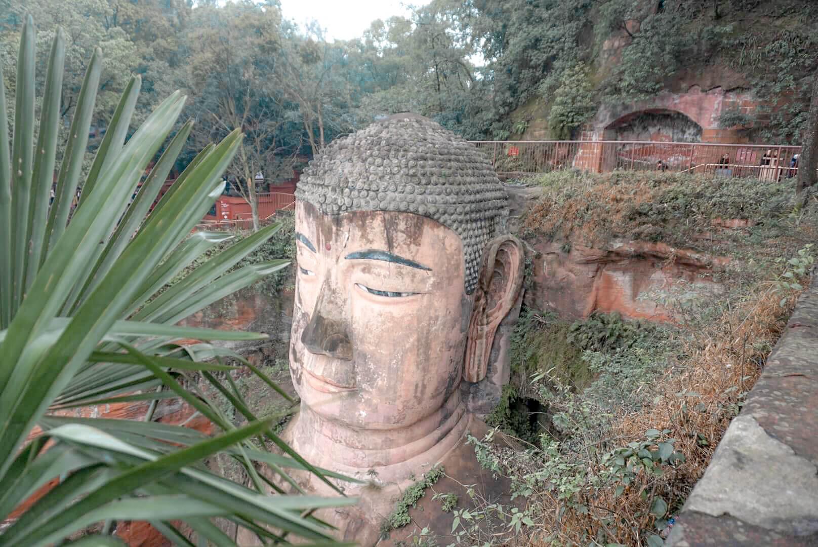 tete bouddha leshan géant chine