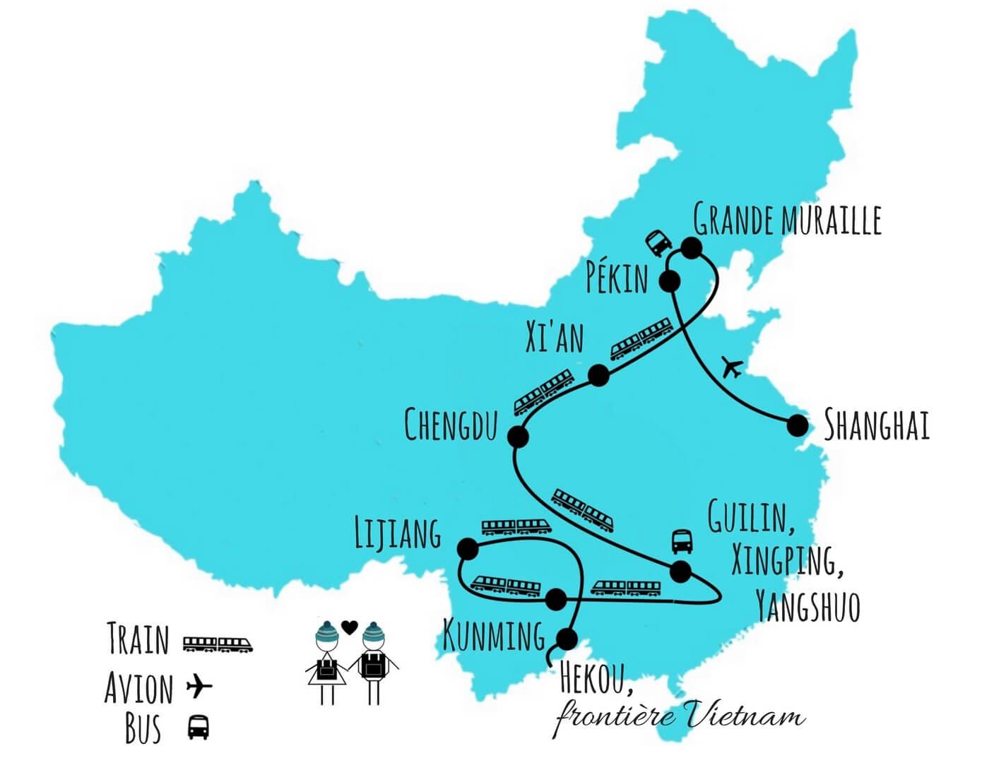 quel itinéraire pour un voyage en chine blog