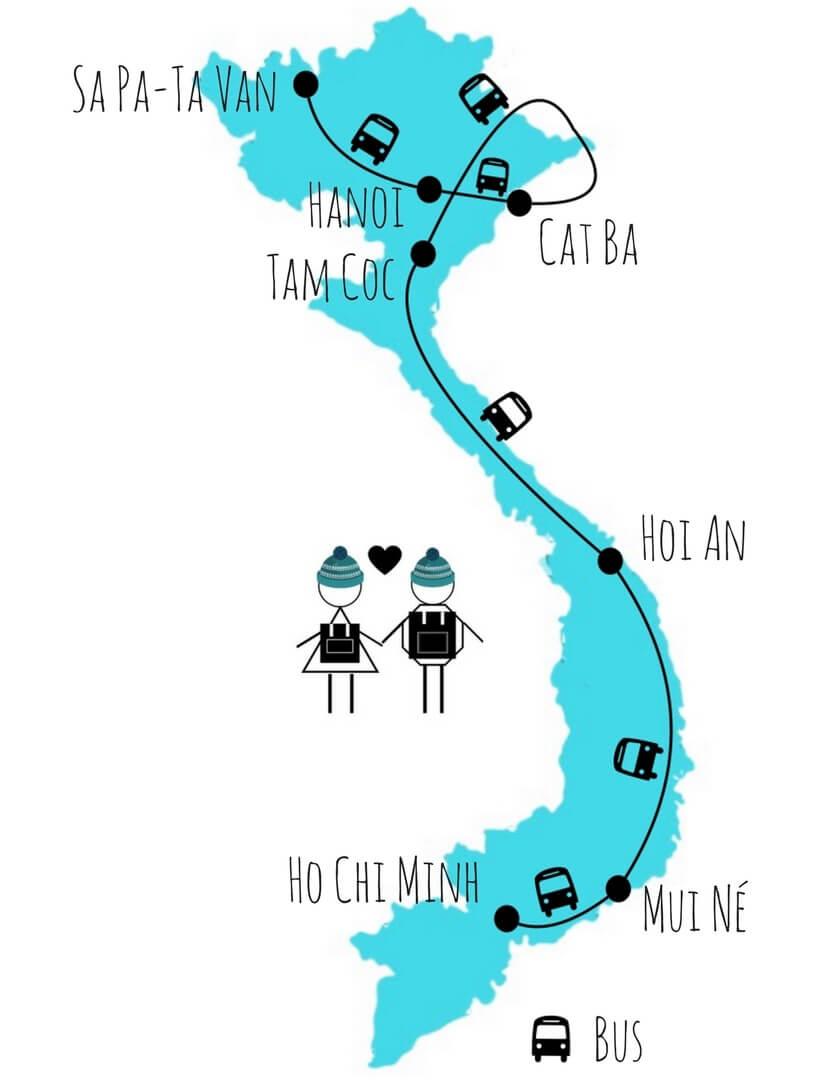 Itinéraire vietnam du nord au sud 2 semaines