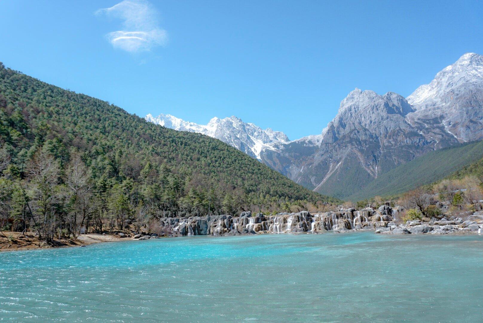 Blue moon vallée chine Yunnan Lijiang
