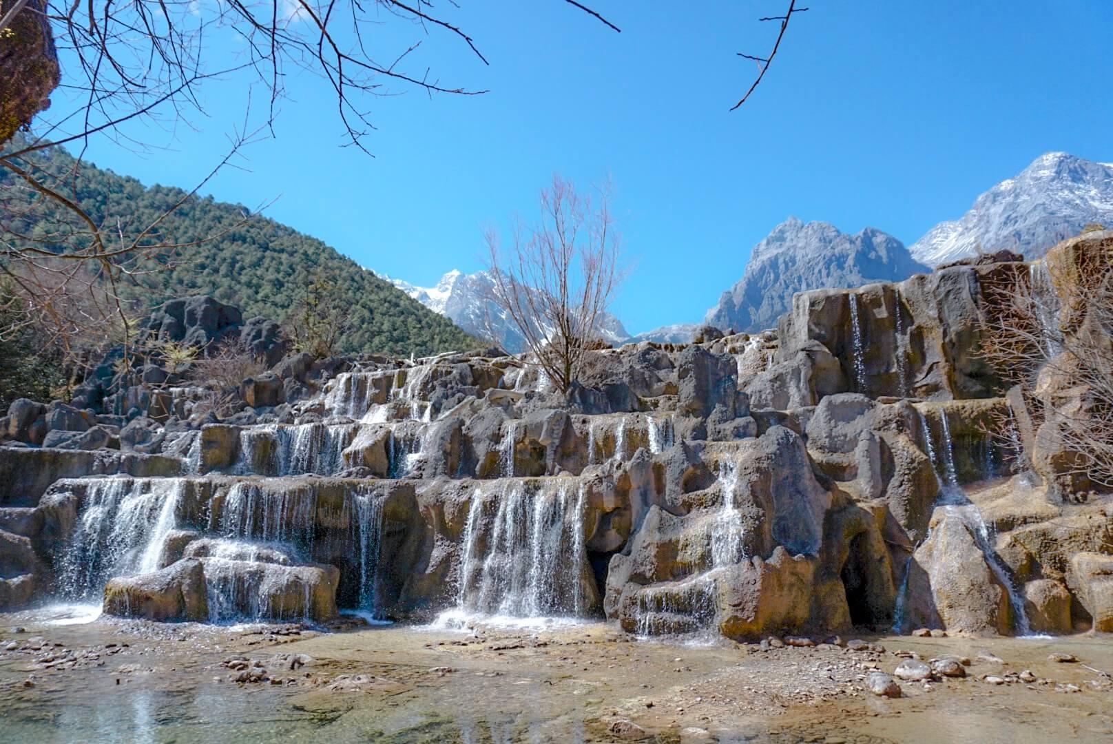 cascade blue moon valley chine Yunnan blog voyage