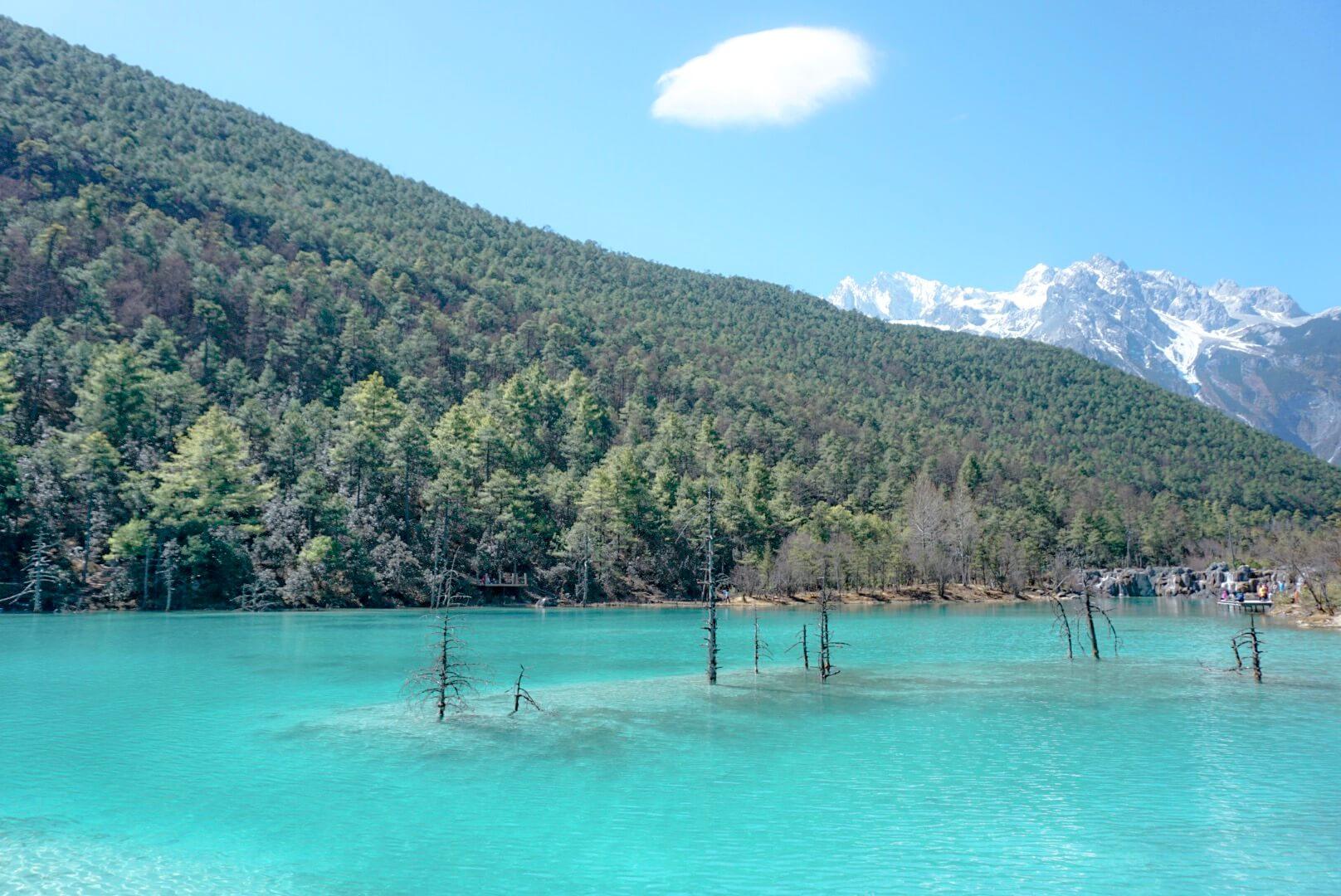Eau turquoise lace montagne dragon de jade Yunnan