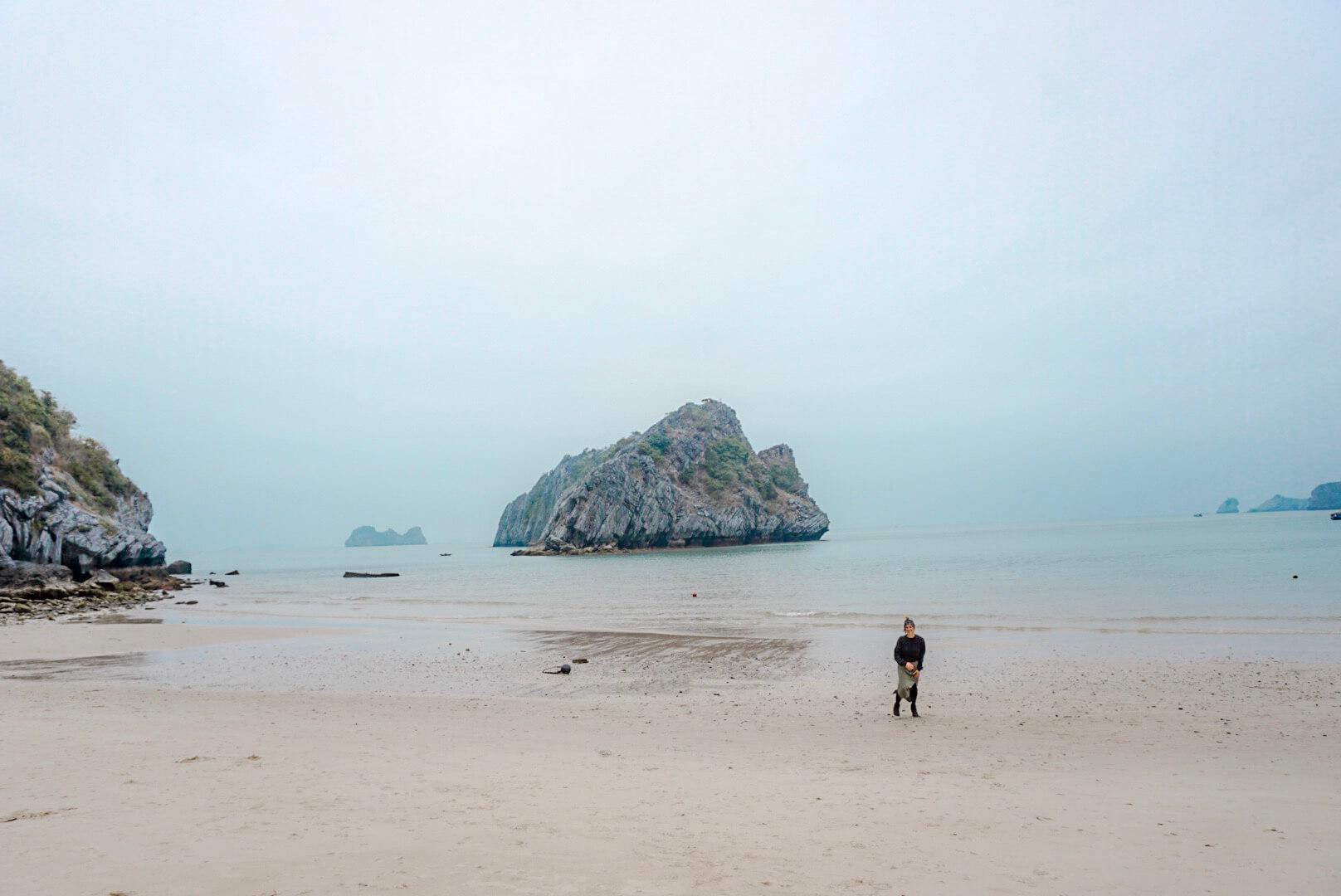 la baie de lan Ha Cat ba plage