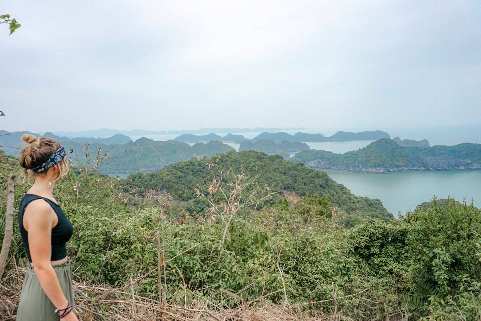 Point de vue Cat Ba Lan Ha Baie