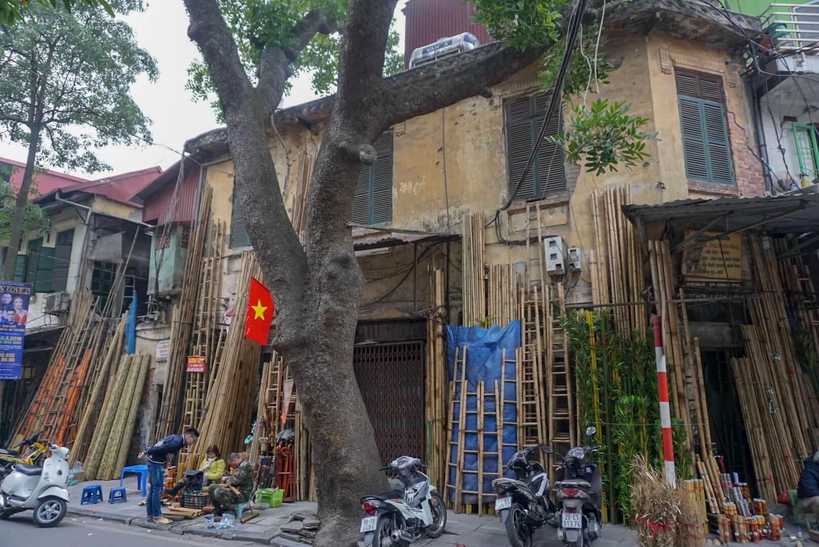 Vieille ville Hanoi quartier Vietnam