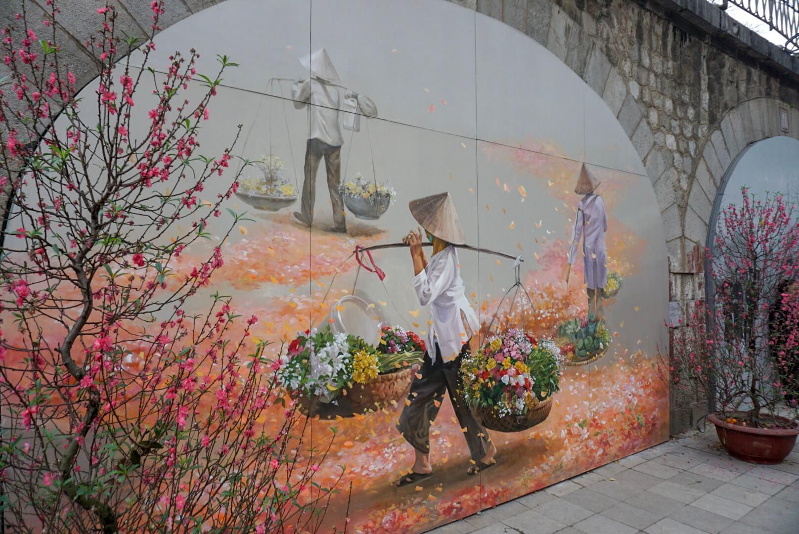 Street art Hanoi Vietnam