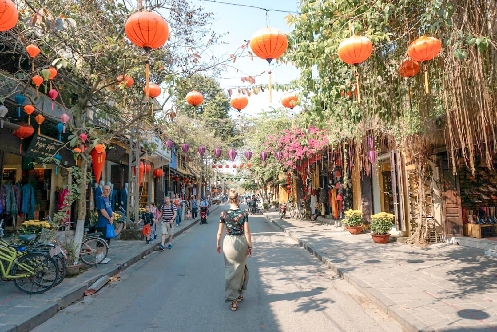 Rues vieille ville Hoi An Vietnam