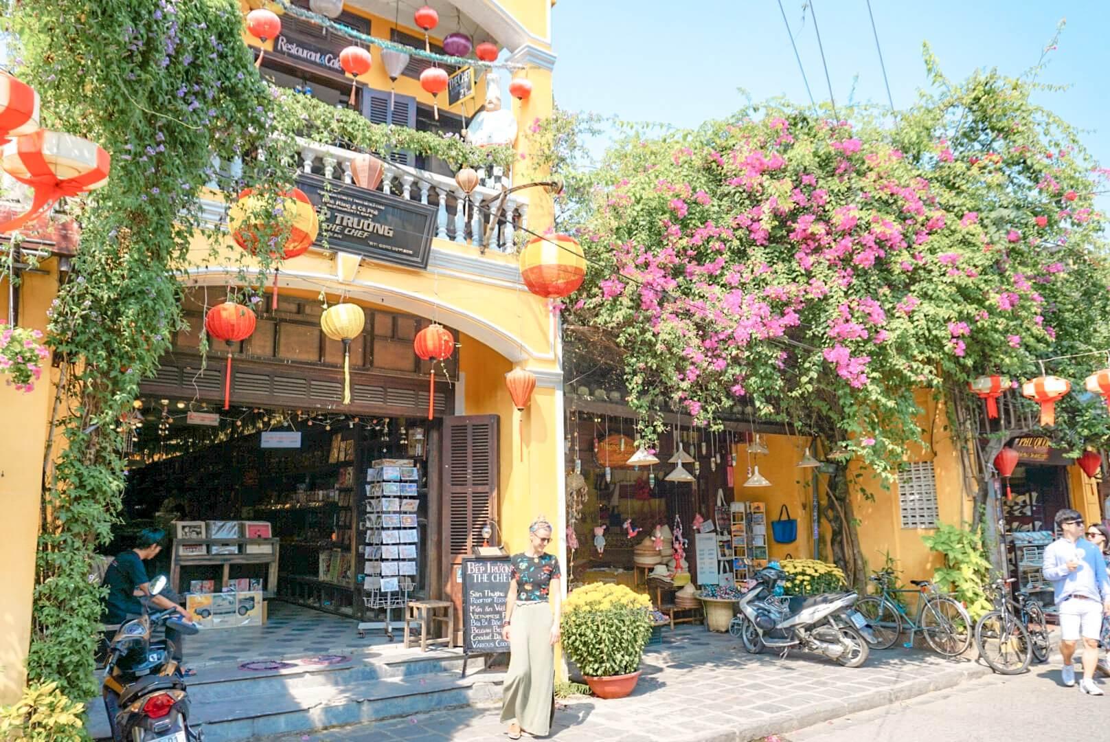 Vieille ville maison jaune Hoi An Vietnam