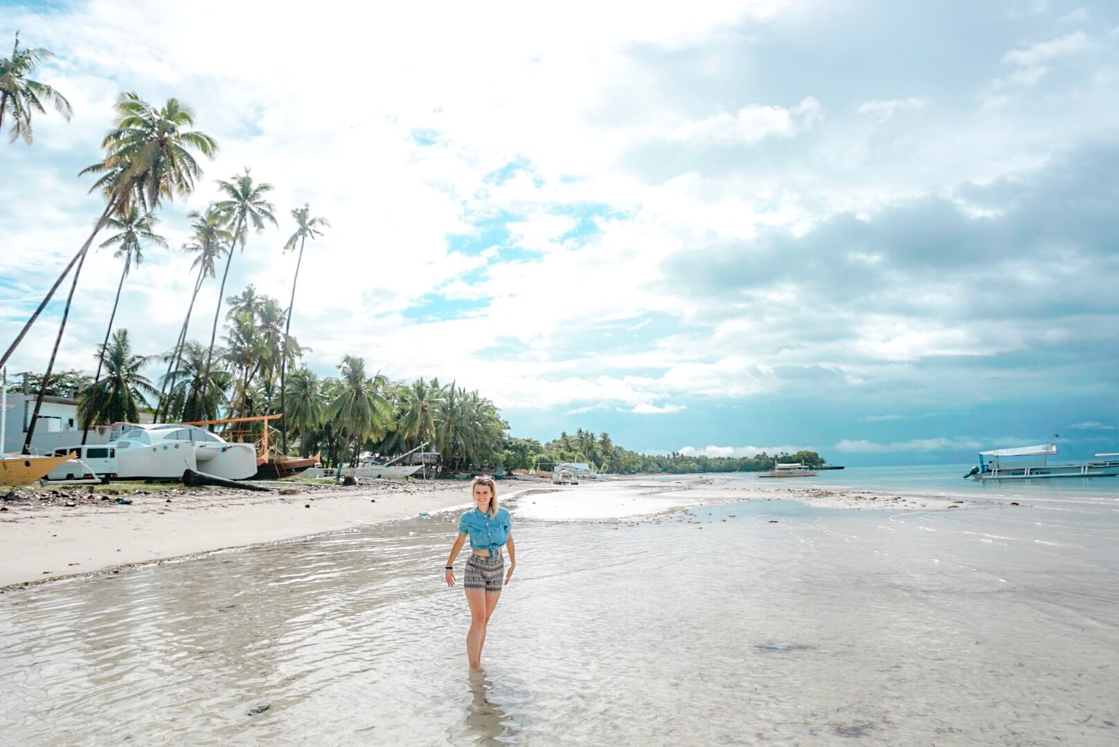 Plage cote ouest Bohol Panglao philippines