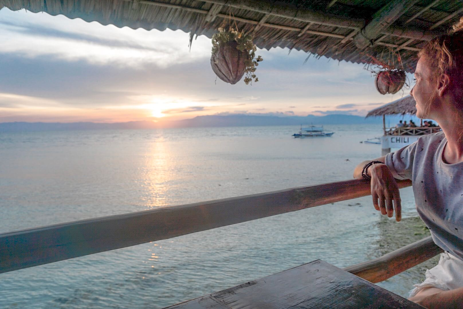 paysage et bar de moalboal pour coucher de soleil philippines