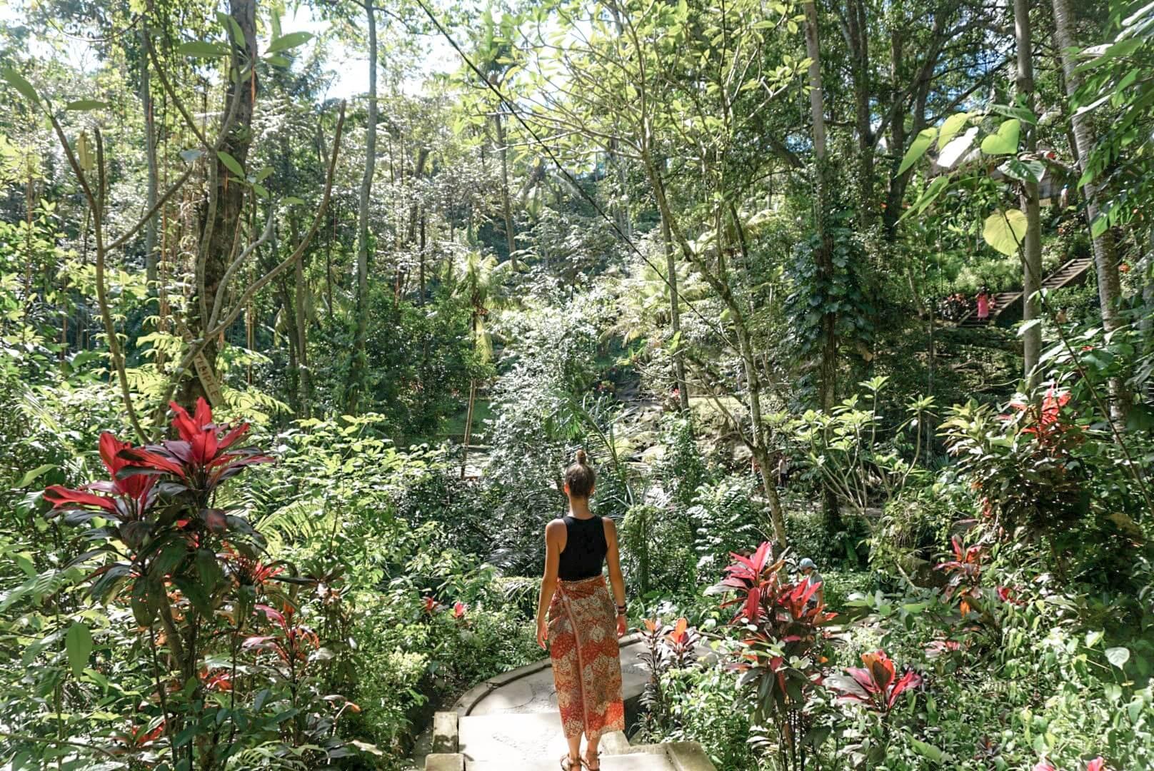 Visiter le parc du temple Goa Gajah Ubud Bali