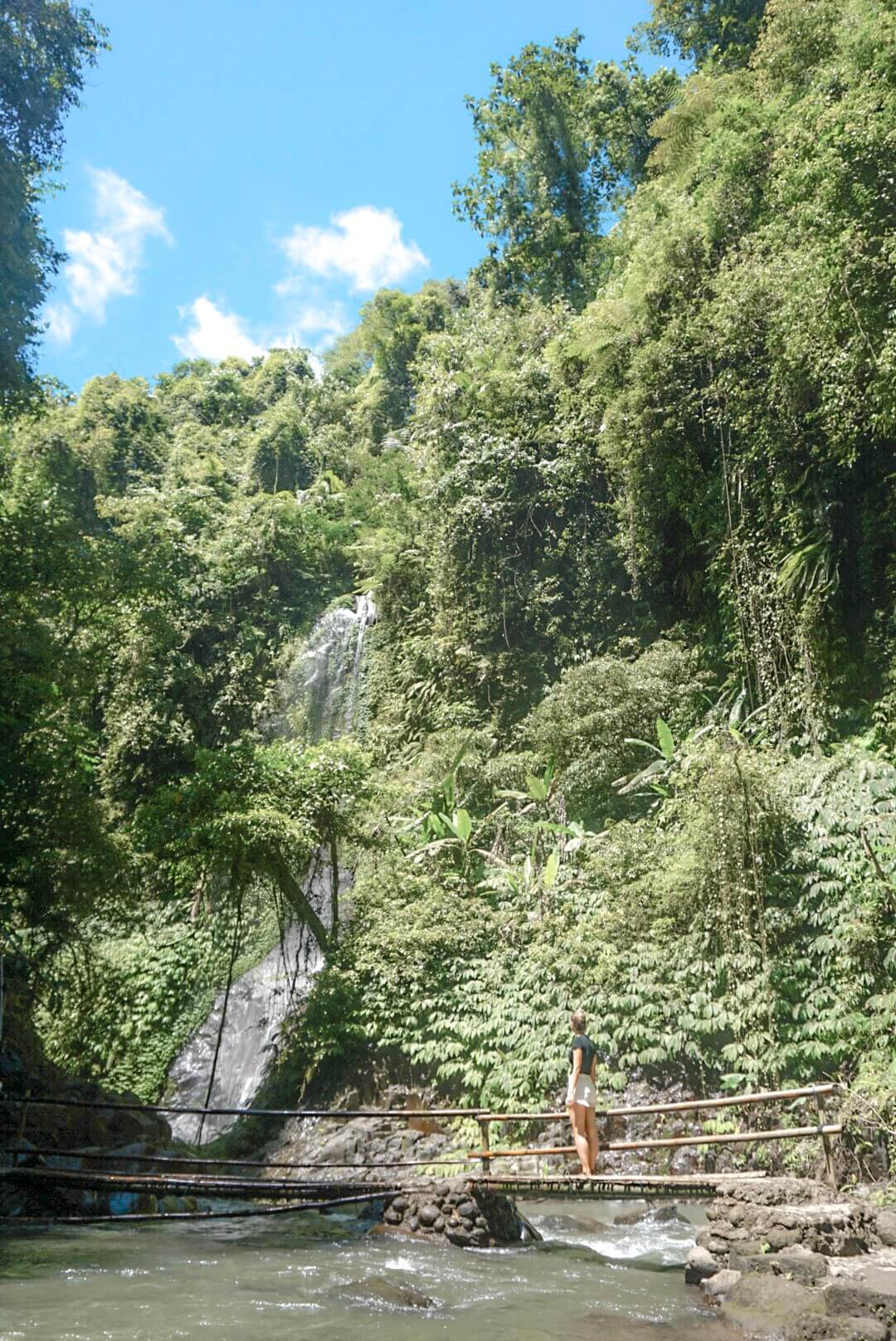 comment aller visiter Cascade Nungnung falls Ubud Bali