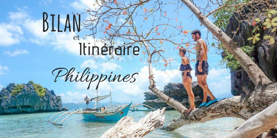 bilan et itinéraire pour voyager 2 semaines aux Philippines