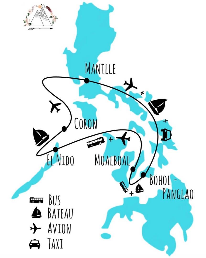 idée Itinéraire pour 2 semaines aux philippines