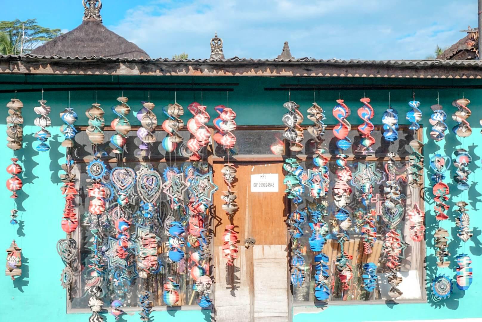voir les maisons colorées ubud Bali indonésie
