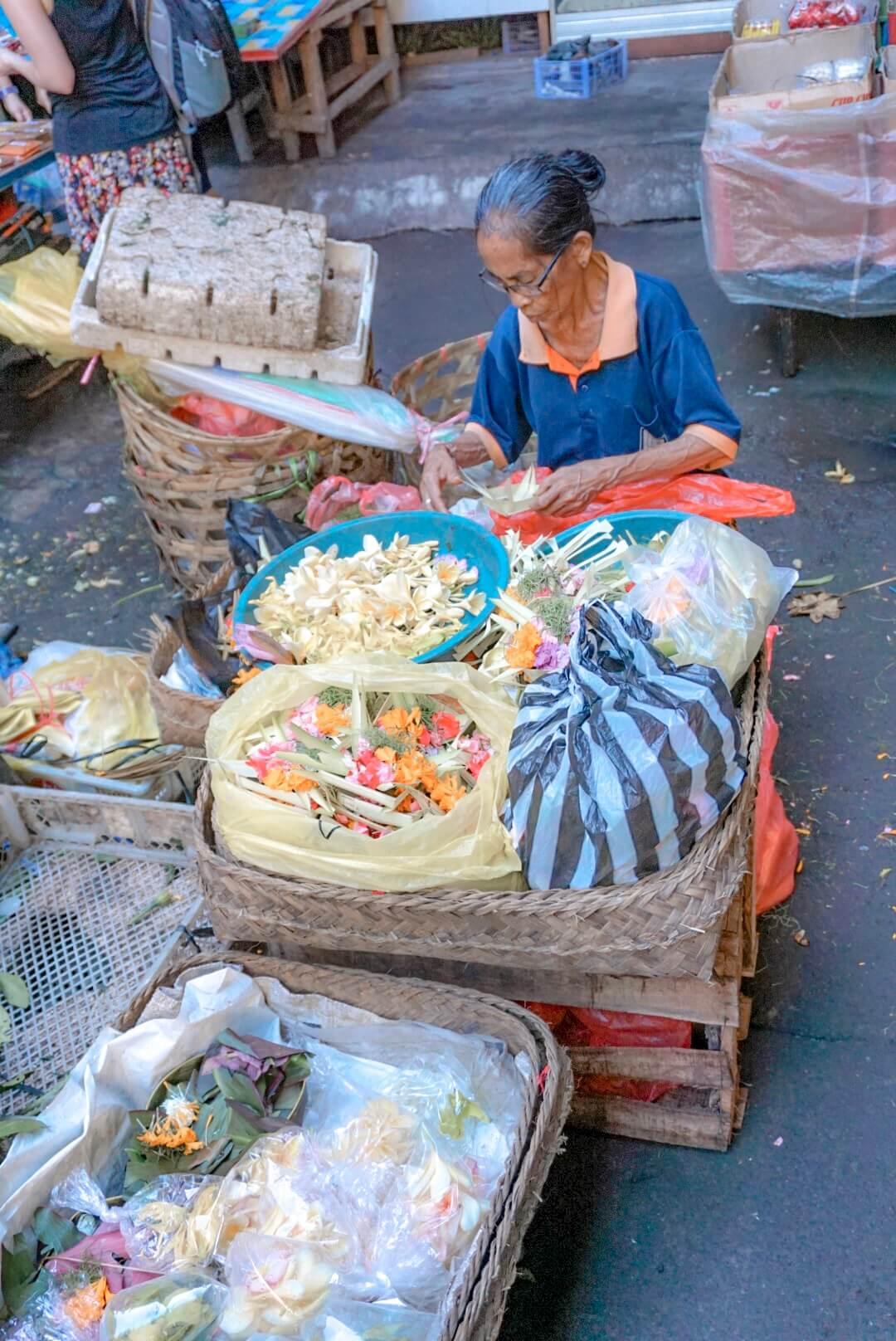 Aller au marché le matin Ubud Bali