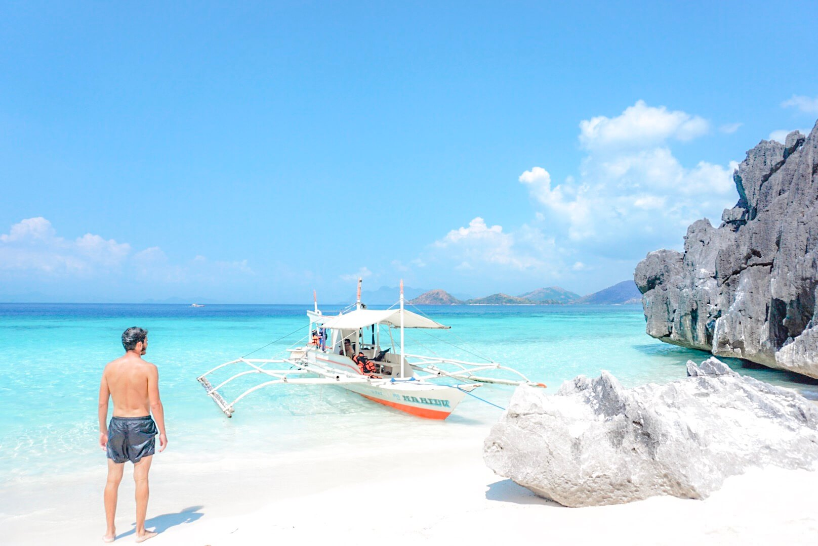 Island Hopping Banol beach Coron Philippines