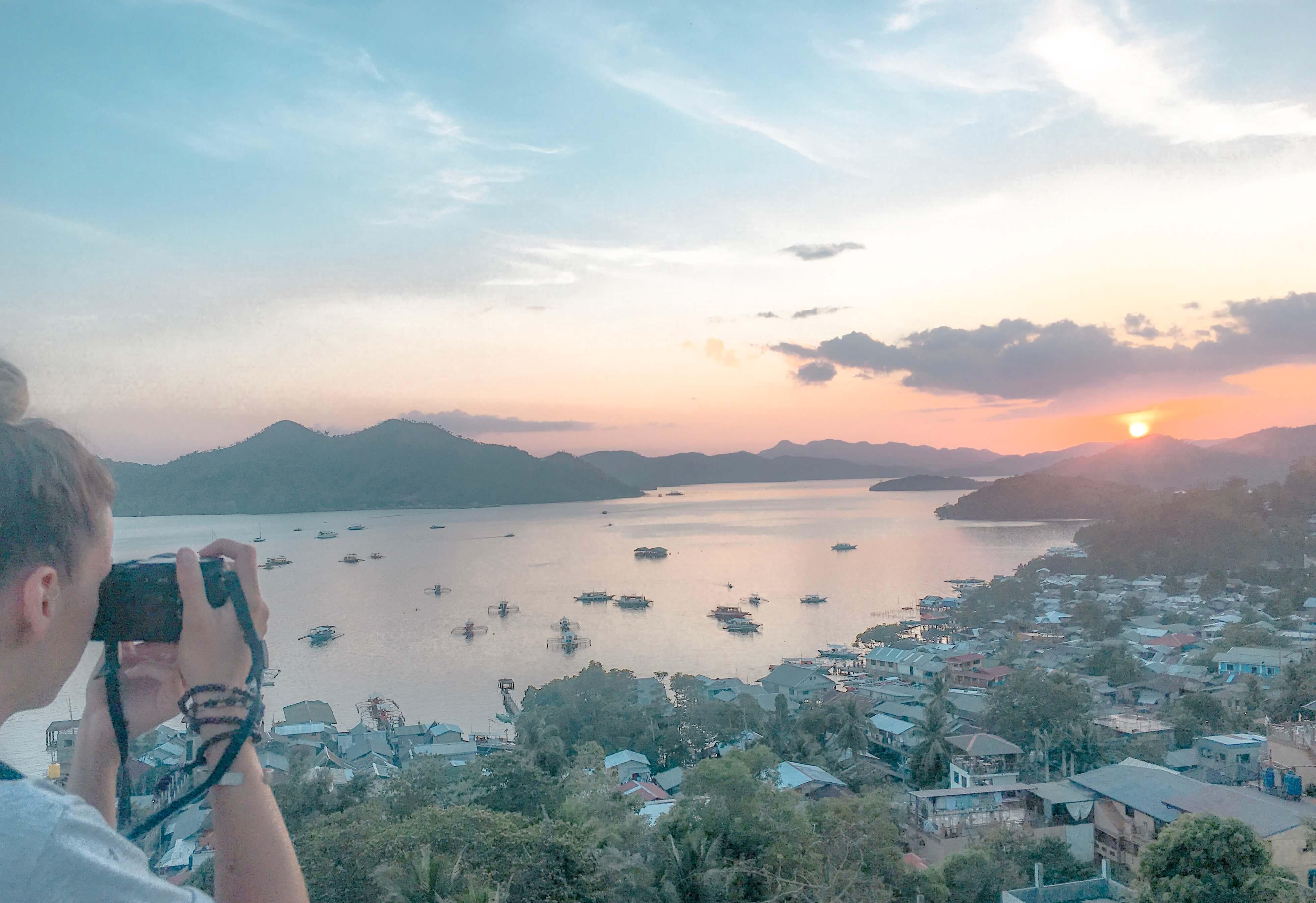 coucher de soleil coron Philippines