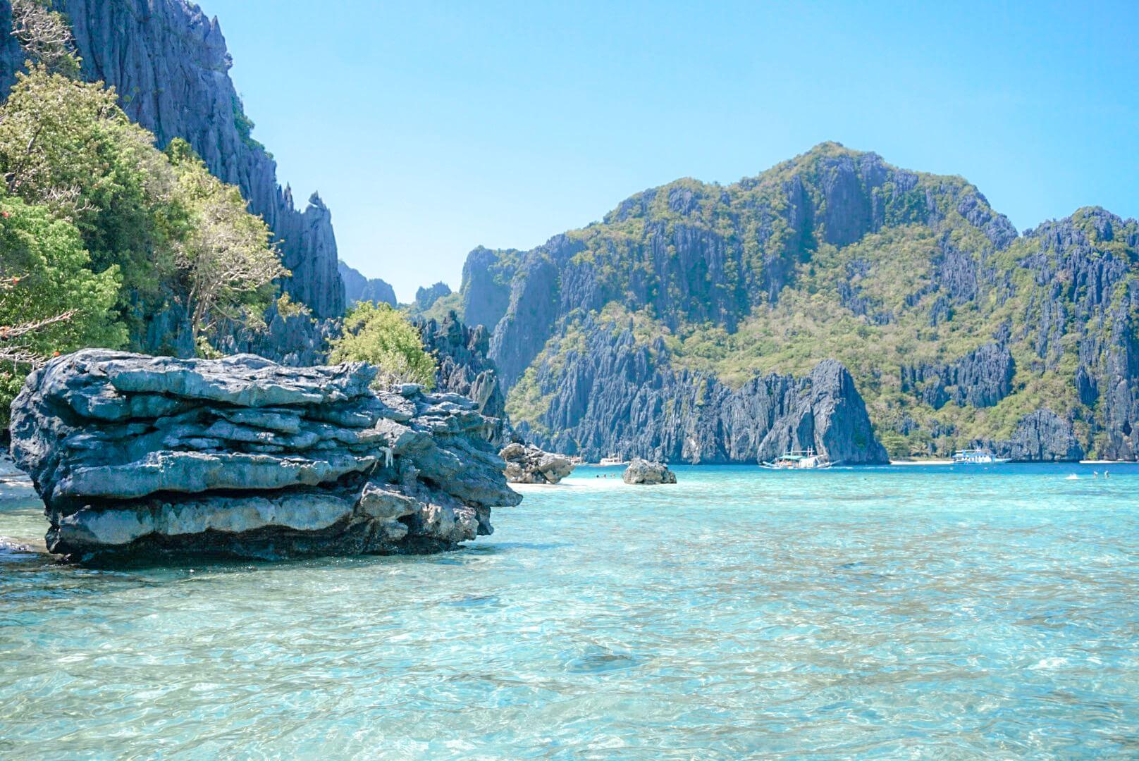 Baie de Bacuit rocher karstiques Shimizu Philippines