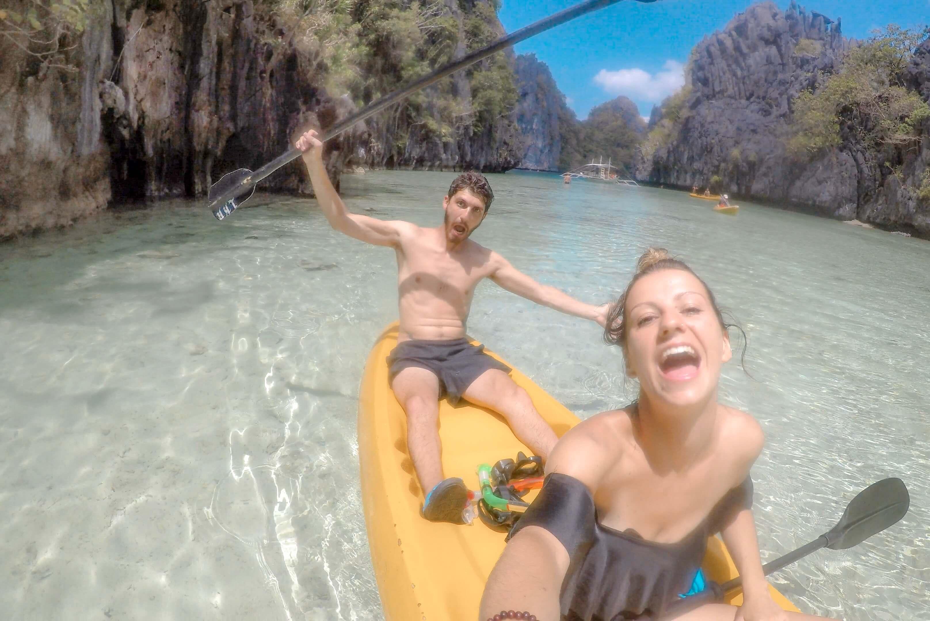 Big Lagoon kayak El Indo Island hopping Philippines