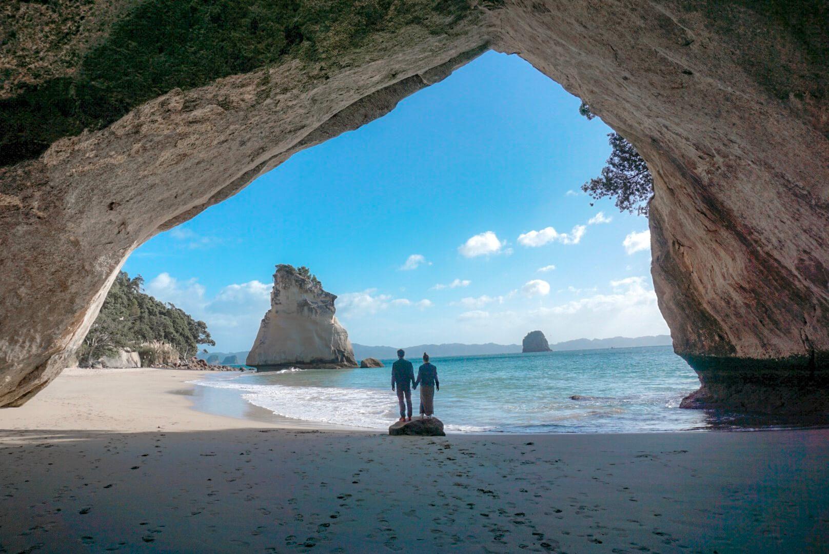 Arche de Cathedral cove Nouvelle Zélande