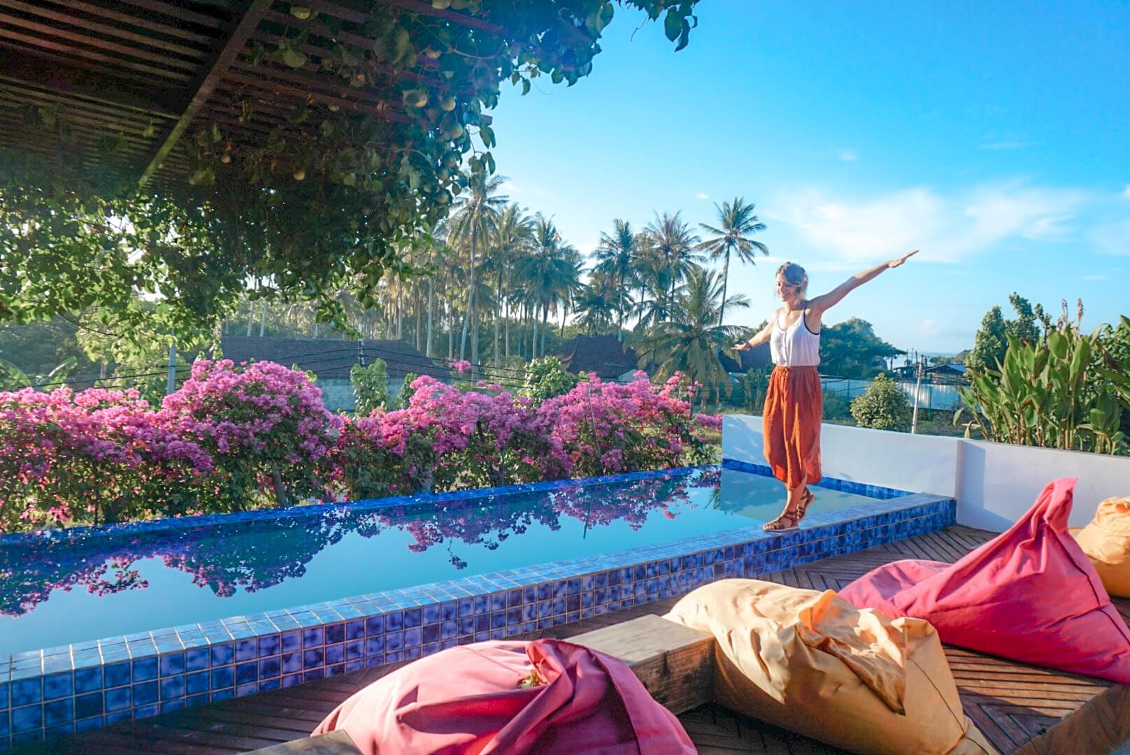 Hotel avec Piscine à Kuta Lombok Indonésie