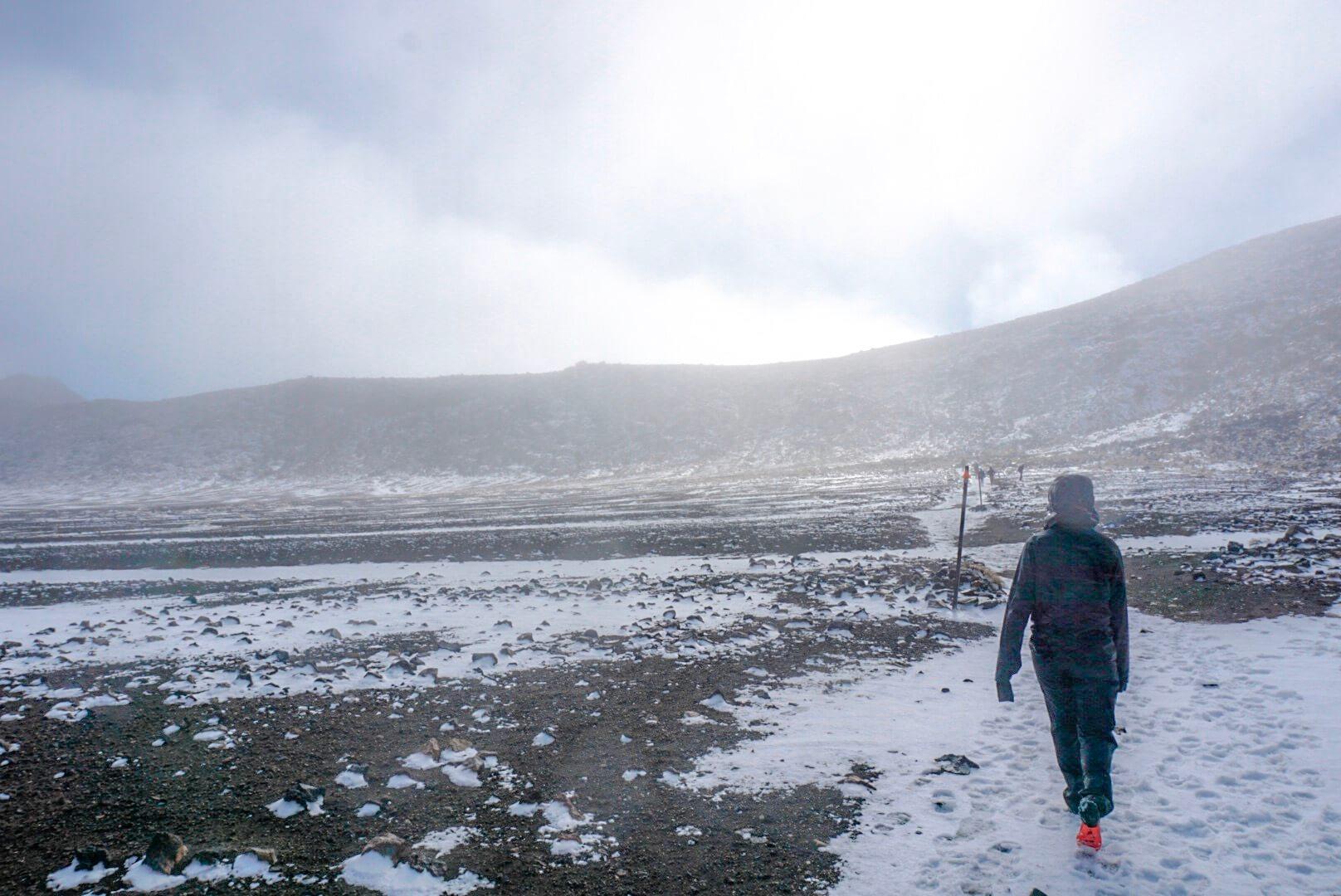 durée dénivelé et difficulté Tongariro alpine crossing
