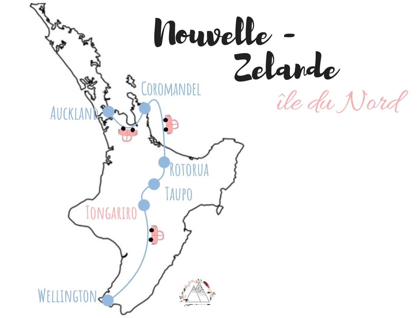 comment visiter l'ile du nord de la nouvelle zelande en van