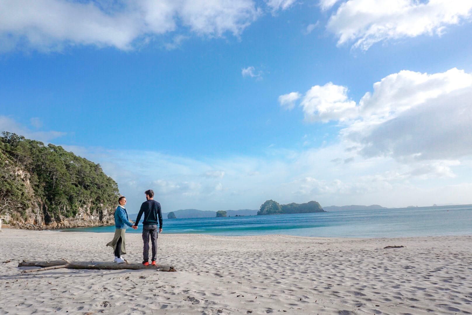 belle plage près de cathedral cove nouvelle Zélande
