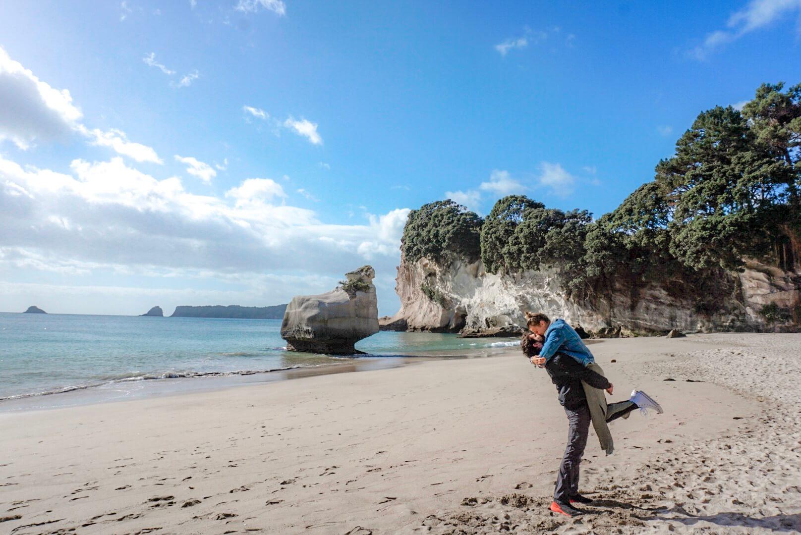 Quand et Comment aller à la plage de Cathedral Cove coromandel nouvelle Zélande