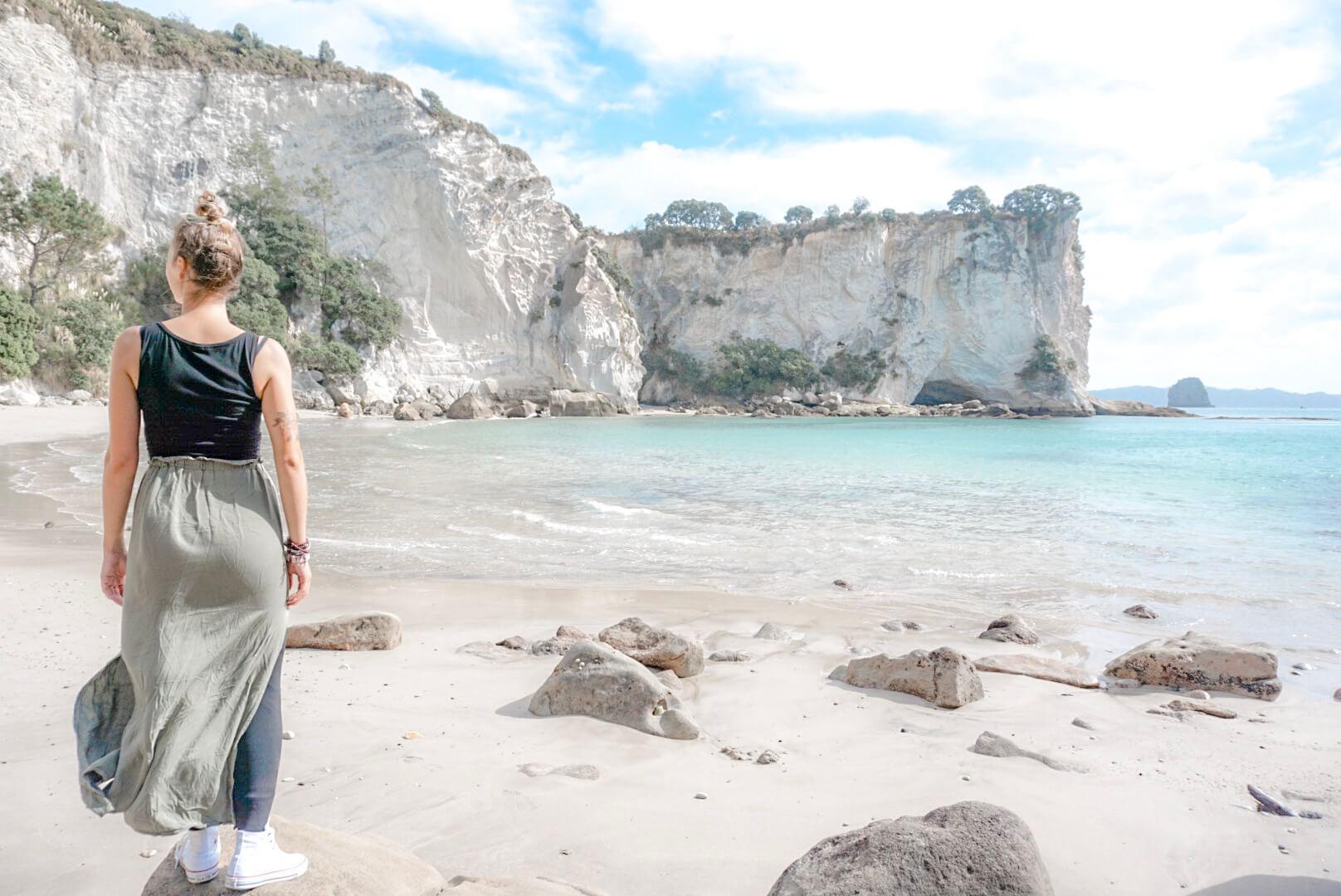 visiter les plages et falaises de coromandel près de Cathedral Cove