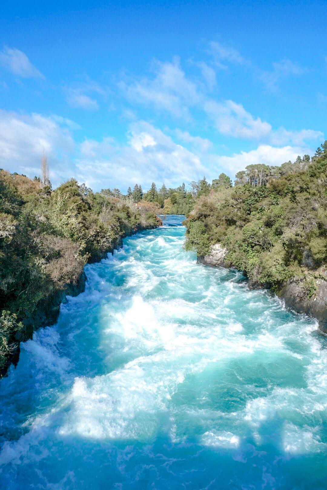 Débit des huka falls Rotorua