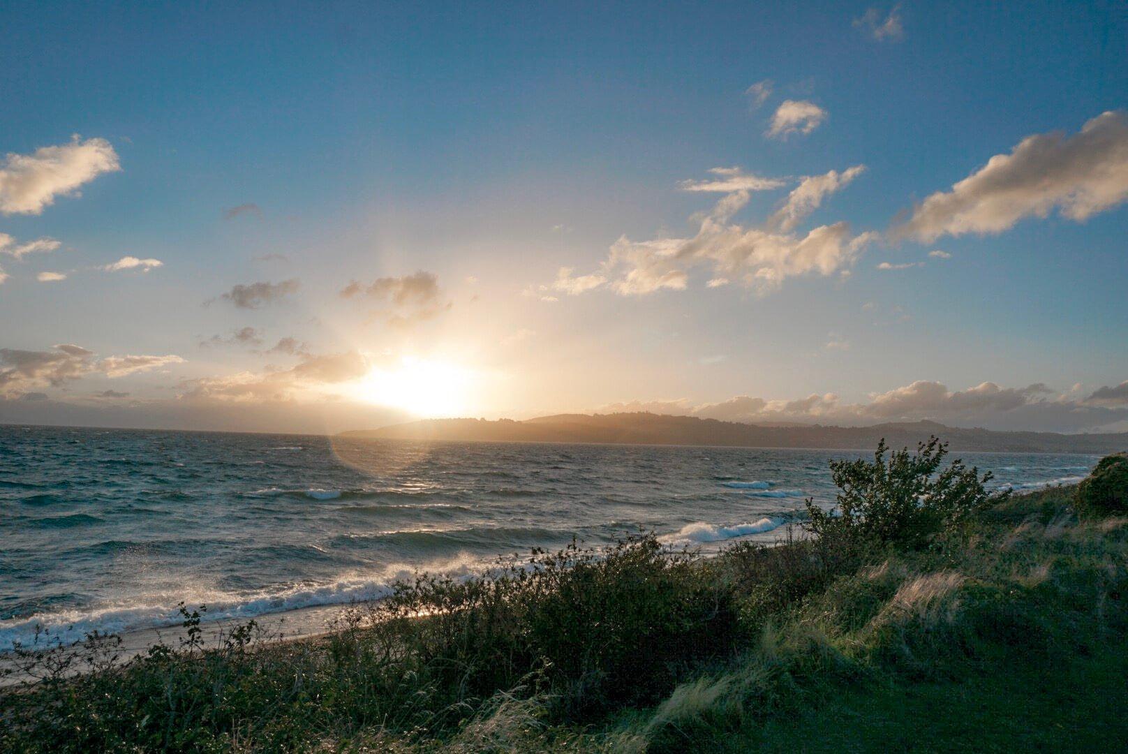 le lac de taupo nouvelle Zélande