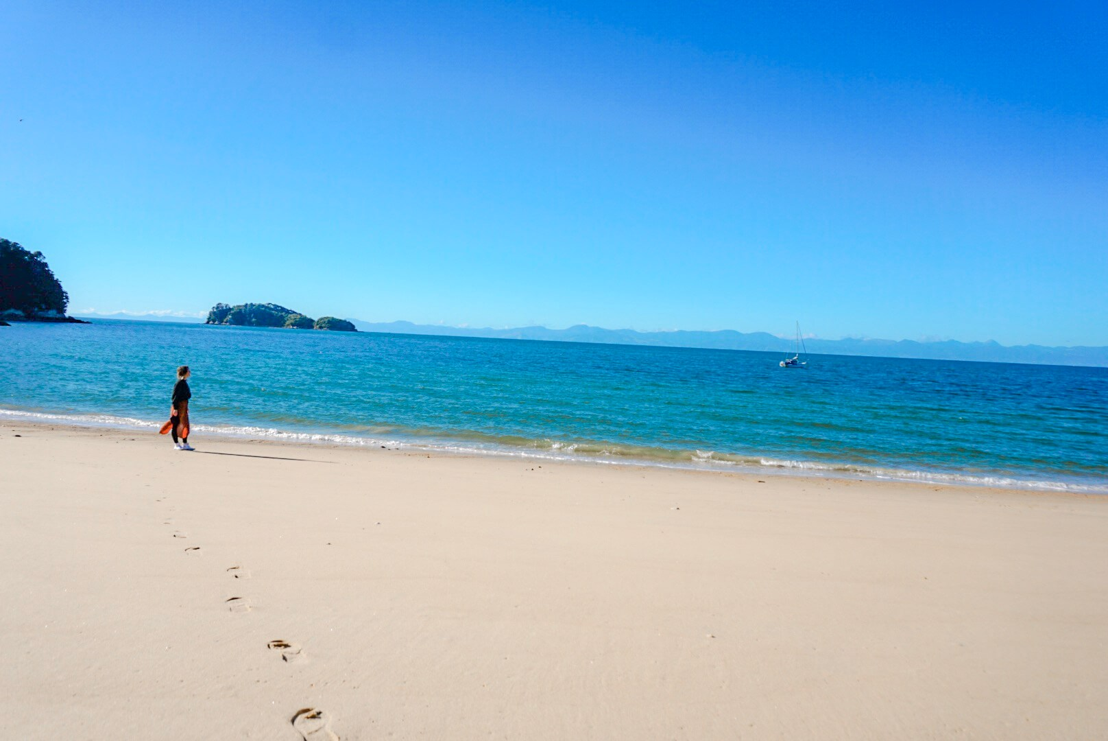 magnifique plage baie Abel Tasman nouvelle Zélande