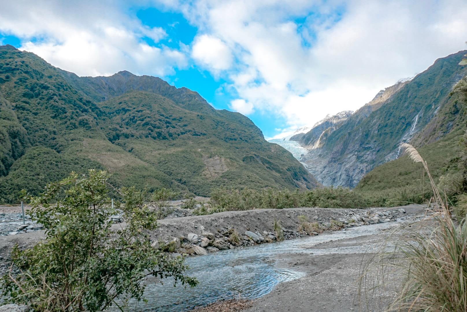 Le parc du glacier Franz josef avec ces sentiers