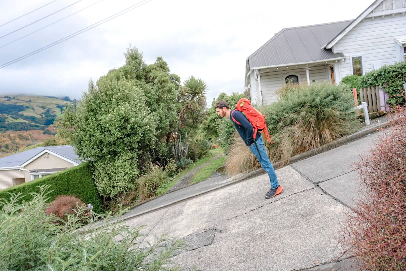 la rue la plus pentue du monde nouvelle zelande