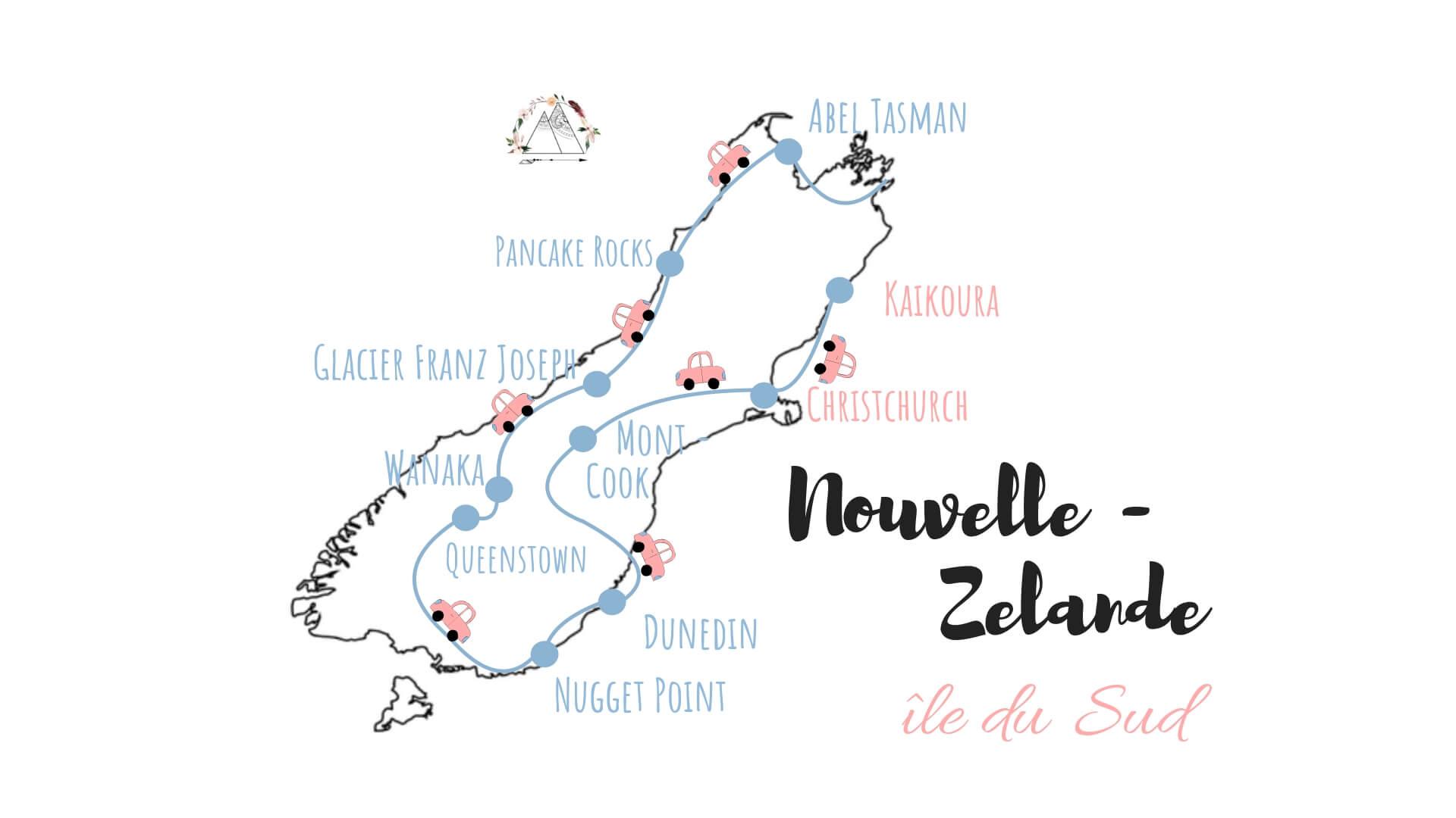 itinéraire nouvelle zelande ile du sud