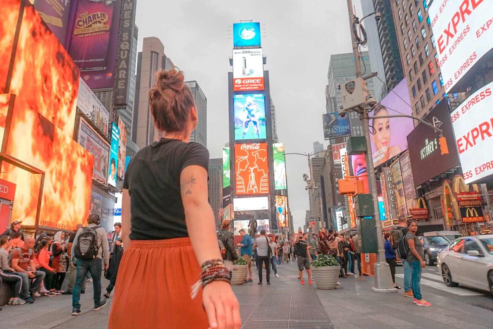 visiter time square new york
