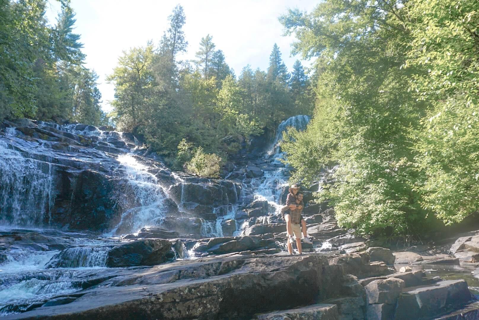 chutes weber visiter randonnée canoe