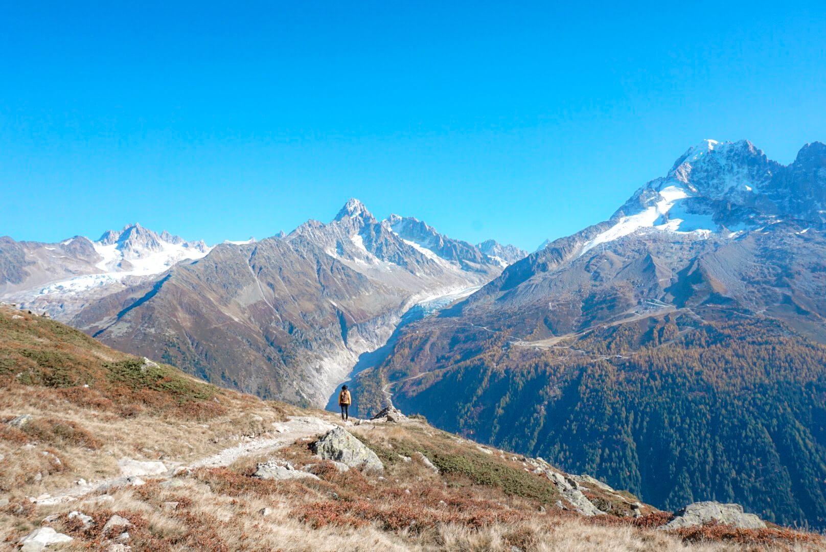 randonnée lac blanc chamonix par téléphérique flégère